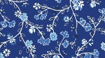 Flores vintage en azul