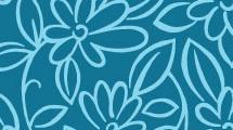 Fondo de flores turquesas