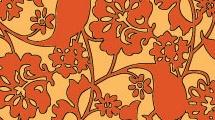 Fondo floral anaranjado