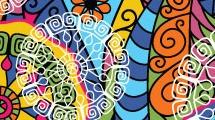 Fondo radial multicolor