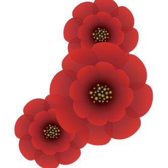 Vector gratis de Impactantes flores rojas