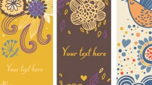 Divertidos banners florales