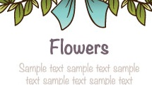 Marco redondo con flores