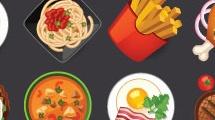 Set: Iconos de alimentos