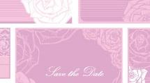Tarjeta floral para boda
