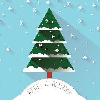 tarjeta de navidad 3d previa del vector - Tarjeta De Navidad En 3d