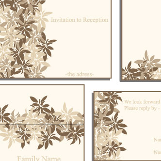 tarjetas para boda previa del vector