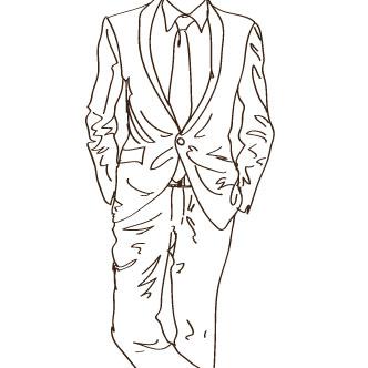 Vectores Traje de hombre  Dibujo lineal de traje de hombre saco
