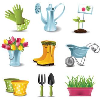 Worksheet. Vector gratis de Elementos para jardinera