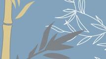 Bambú y pájaro