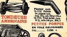 Elementos de jardinería vintage