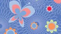 Floral con mariposas
