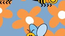 Fondo con abejas