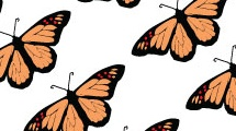 Fondo  con mariposas