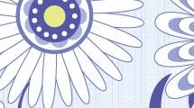 Fondo floral en azul