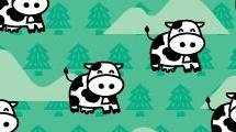 Fondo infantil con vacas