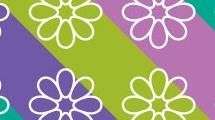 Fondo simple con flores