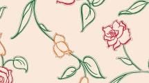 Fondo sutil con rosas