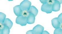 Patrón con flores azules