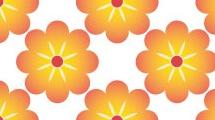 Patrón floral simple