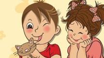 Bonita tarjeta infantil