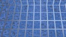 Espacio 3D en azul