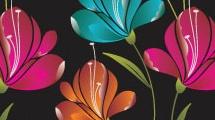 Flores con brillo