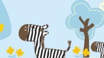 Ilustración con cebras