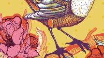 Pájaro sobre rama
