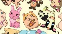 Patrón infantil con animales