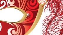 Máscara con plumas