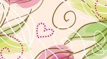 Patrón floral con corazones