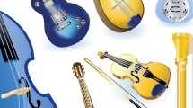 Set con instrumentos de cuerda