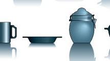 Set: utensilios de cocina