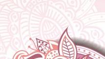 Borde floral decorativo