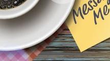 Café y mensaje