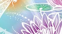 Flor de loto y libélula