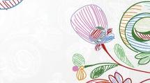 Ilustración con flores
