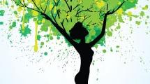 Mujer con raíces
