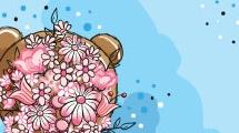 Osito con flores