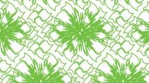 Patrón abstracto en verde