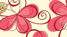 Patrón con dibujos de flores