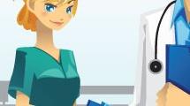 Profesiones: médico y enfermera