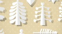 Set con árboles de papel