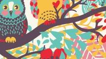 Búhos multicolores