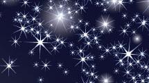 Cielo azul con estrellas