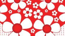 Corazón con flores rojas