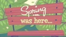 El parque en primavera