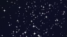 Estrellas sobre cielo negro