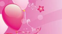 Fiesta con globos rosados